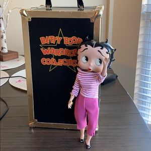 BETTY BOOP DOLL, CLOTHES & wardrobe closet